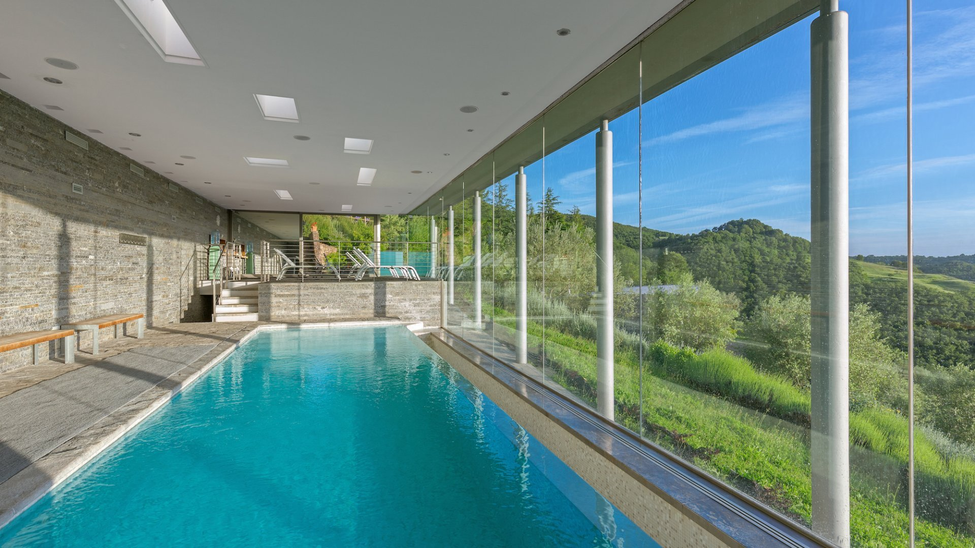 swimming pool overlooking the valley