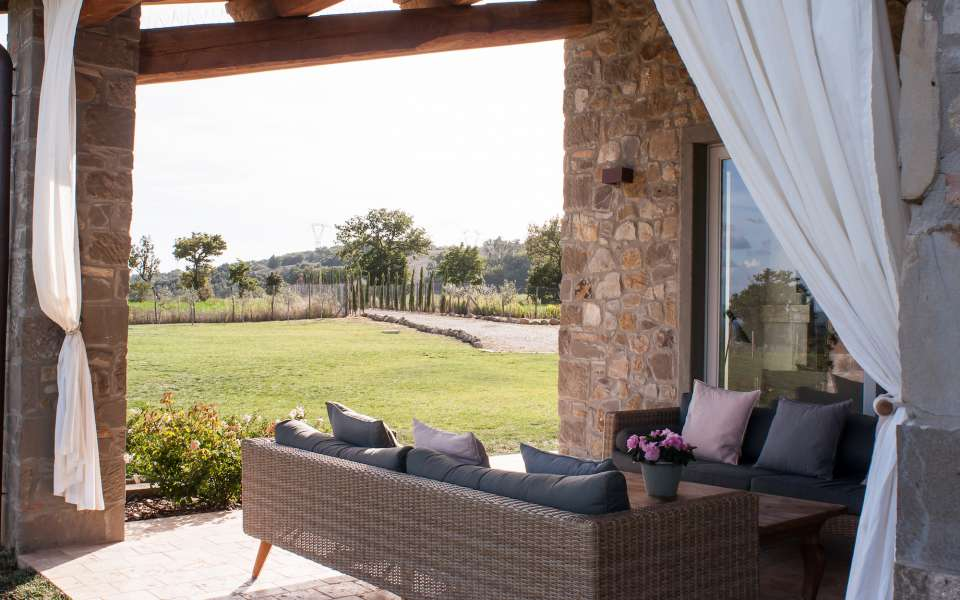 luxury vacation rentals in a contemporary Tuscan villa