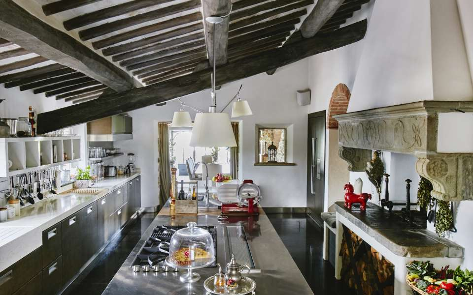 main villa, fully equipped kitchen
