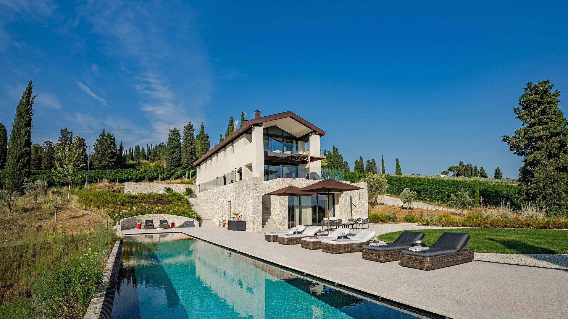 luxury villa Angioletto in Tuscany with private pool