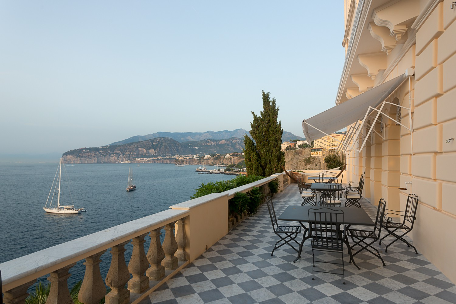 expansive terrace with 180 degrees sea views