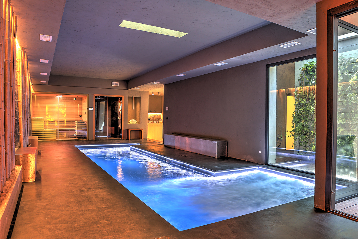 SPA with heated swimming pool