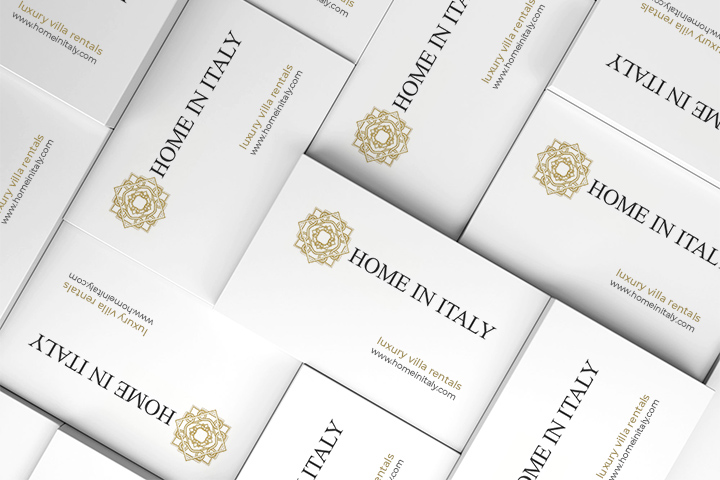 Home In Italy Business Cards
